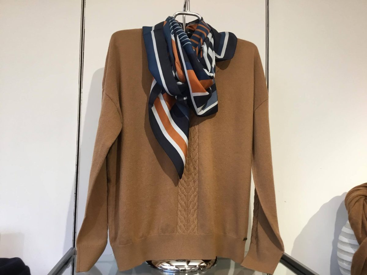 women brown colour cardigan